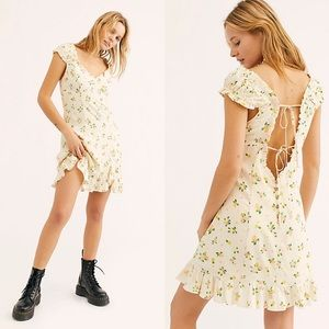 Free People Dresses - Free People Like A Lady Printed Mini Dress Citrus